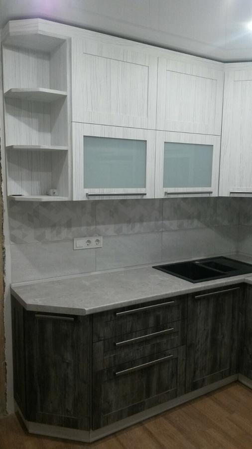 Белый кухонный гарнитур-Кухня из ЛДСП «Модель 358»-фото1