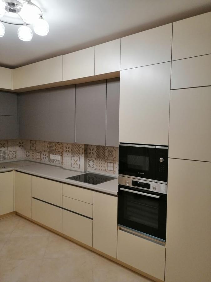 Белый кухонный гарнитур-Кухня из пластика «Модель 339»-фото3