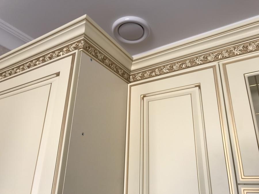 Белый кухонный гарнитур-Кухня МДФ в эмали «Модель 487»-фото11