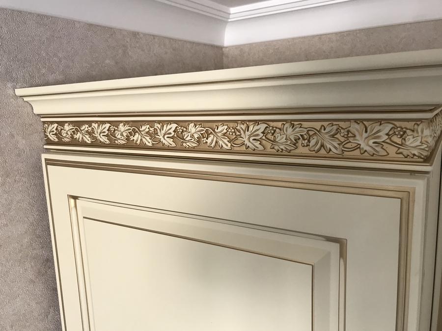 Белый кухонный гарнитур-Кухня МДФ в эмали «Модель 487»-фото12