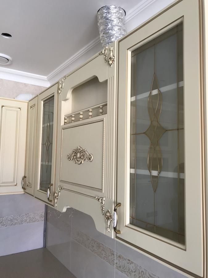 Белый кухонный гарнитур-Кухня МДФ в эмали «Модель 487»-фото10