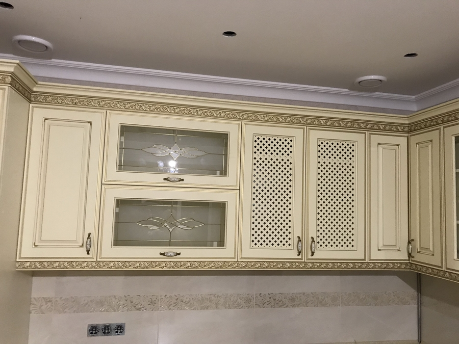 Белый кухонный гарнитур-Кухня МДФ в эмали «Модель 487»-фото5