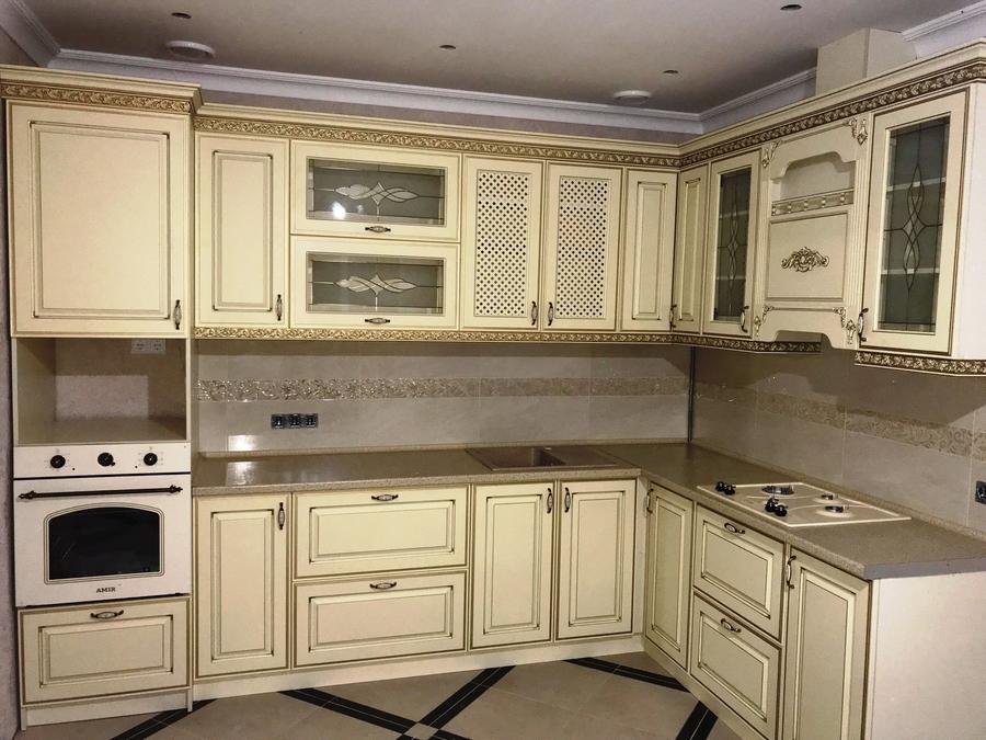 Белый кухонный гарнитур-Кухня МДФ в эмали «Модель 487»-фото2