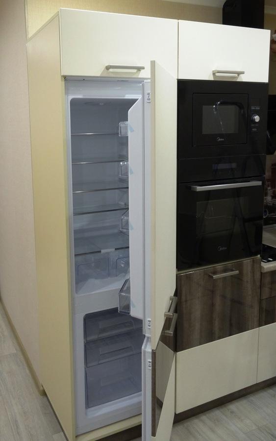 Белый кухонный гарнитур-Кухня МДФ в эмали «Модель 485»-фото7