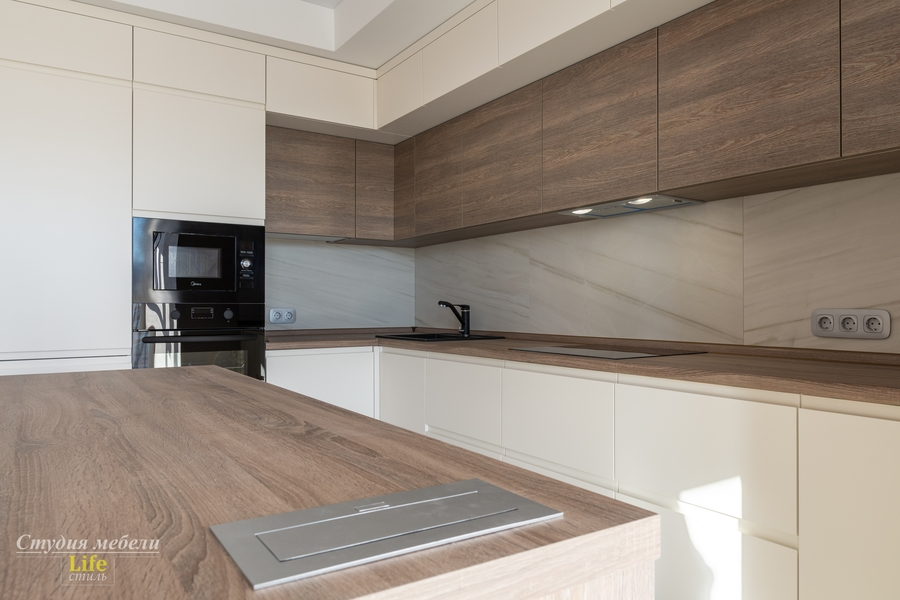 Белый кухонный гарнитур-Кухня из ЛДСП «Модель 424»-фото3