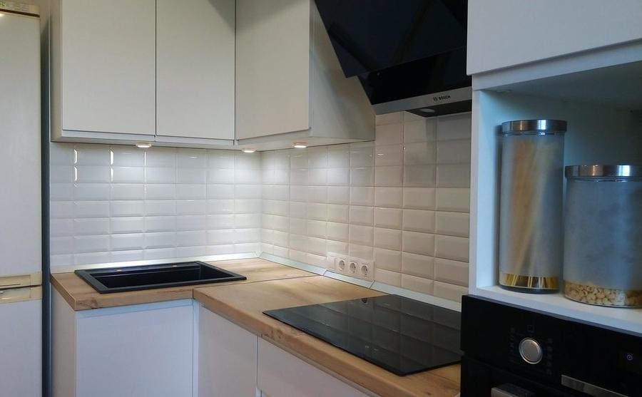 Белый кухонный гарнитур-Кухня МДФ в эмали «Модель 471»-фото3