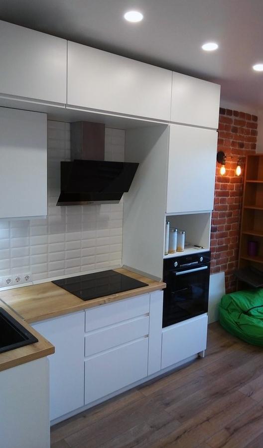 Белый кухонный гарнитур-Кухня МДФ в эмали «Модель 471»-фото2