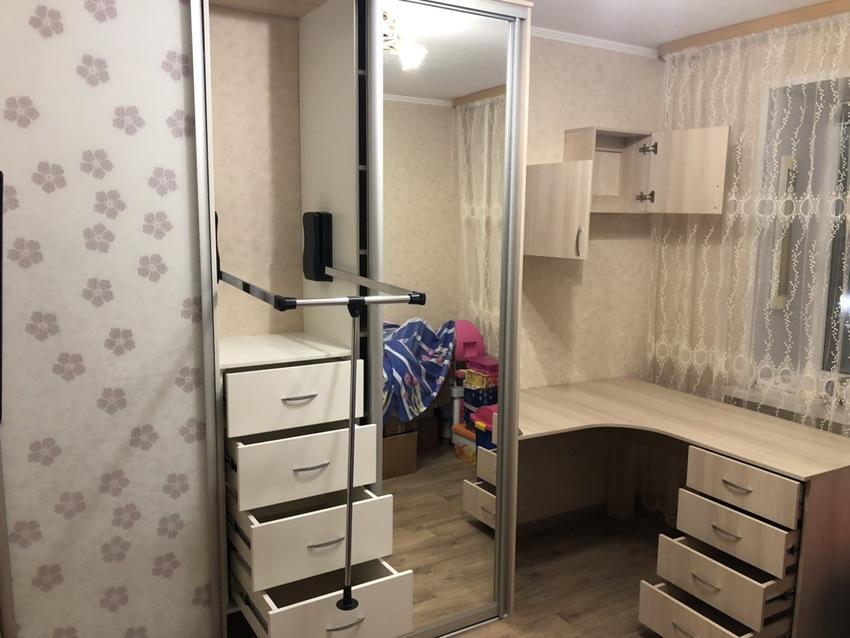 Бельевой шкаф-купе-Шкаф-купе с зеркалом «Модель 481»-фото2