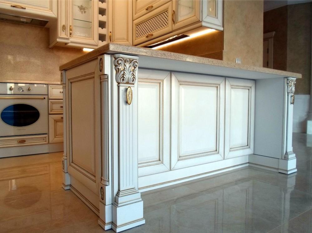 Белый кухонный гарнитур-Кухня из массива «Модель 152»-фото8