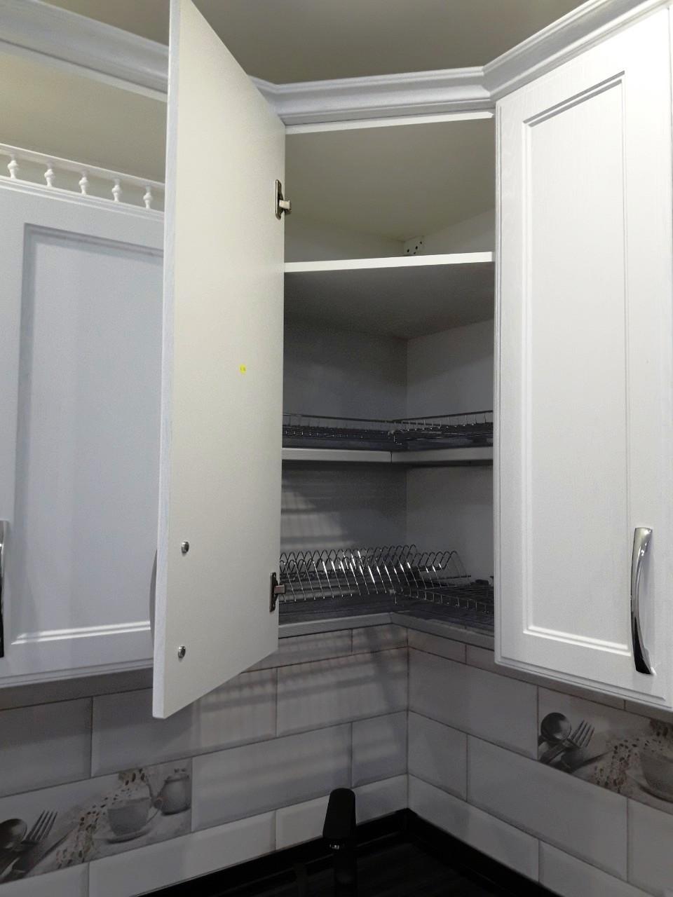 Белый кухонный гарнитур-Кухня МДФ в ПВХ «Модель 540»-фото7