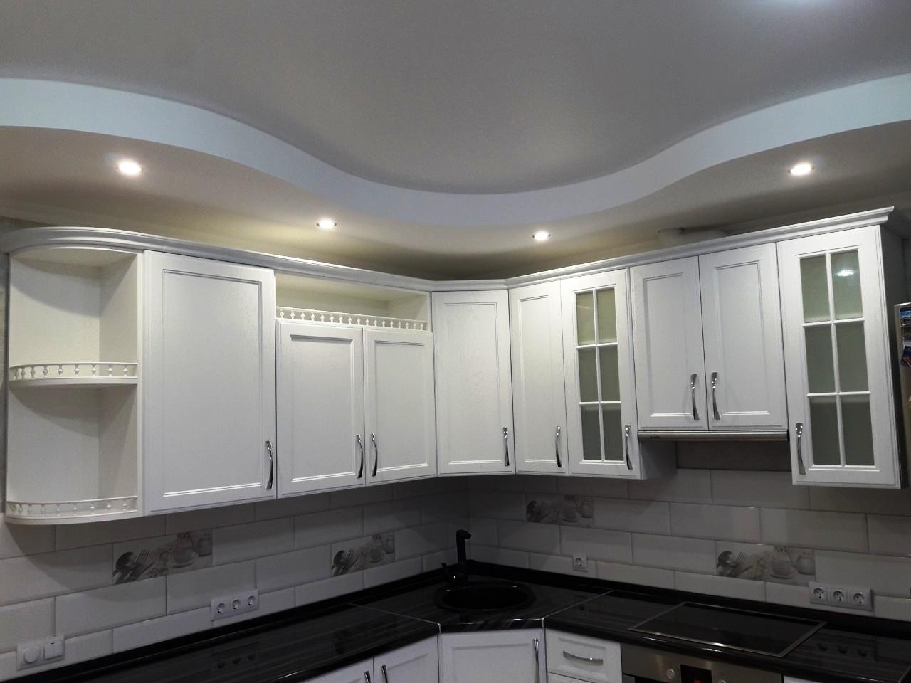 Белый кухонный гарнитур-Кухня МДФ в ПВХ «Модель 540»-фото4