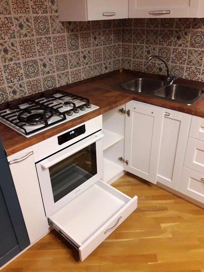 Белый кухонный гарнитур-Кухня МДФ в ПВХ «Модель 529»-фото6