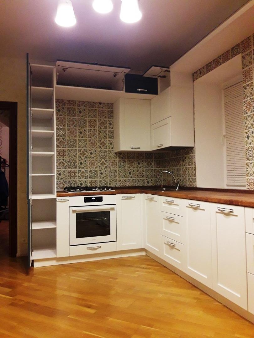 Белый кухонный гарнитур-Кухня МДФ в ПВХ «Модель 529»-фото4