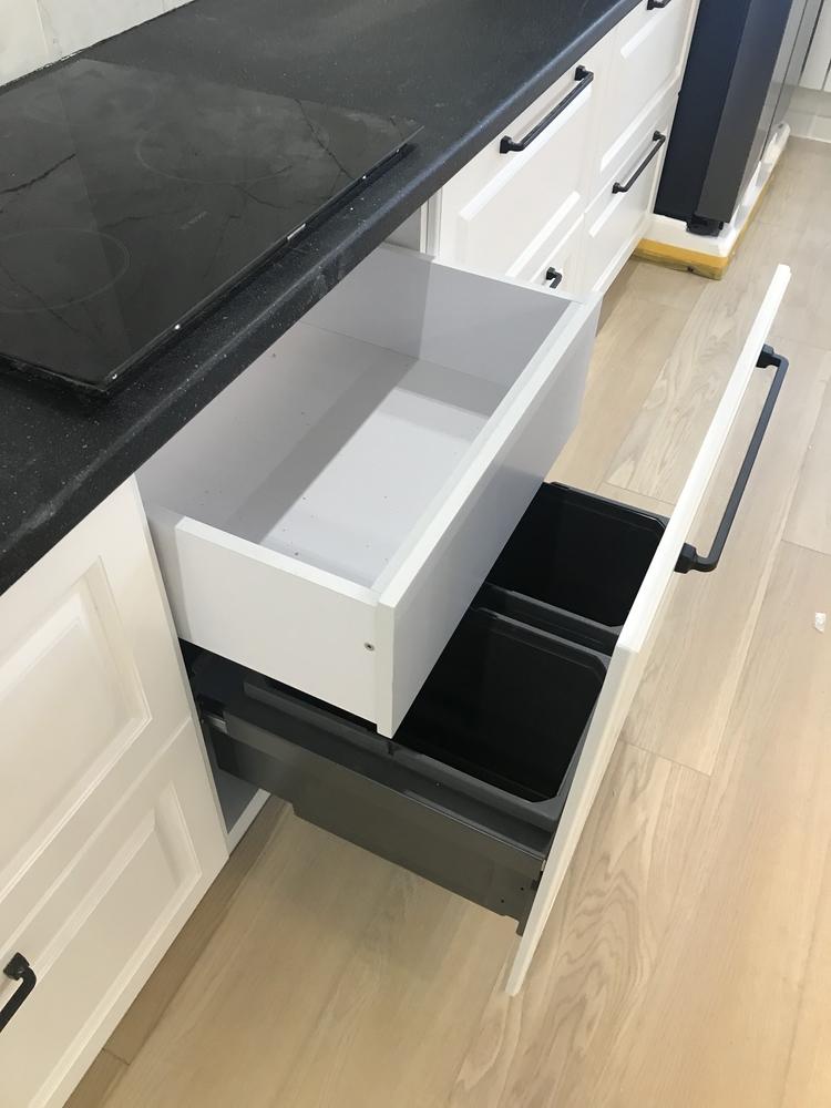 Белый кухонный гарнитур-Кухня МДФ в ПВХ «Модель 553»-фото8