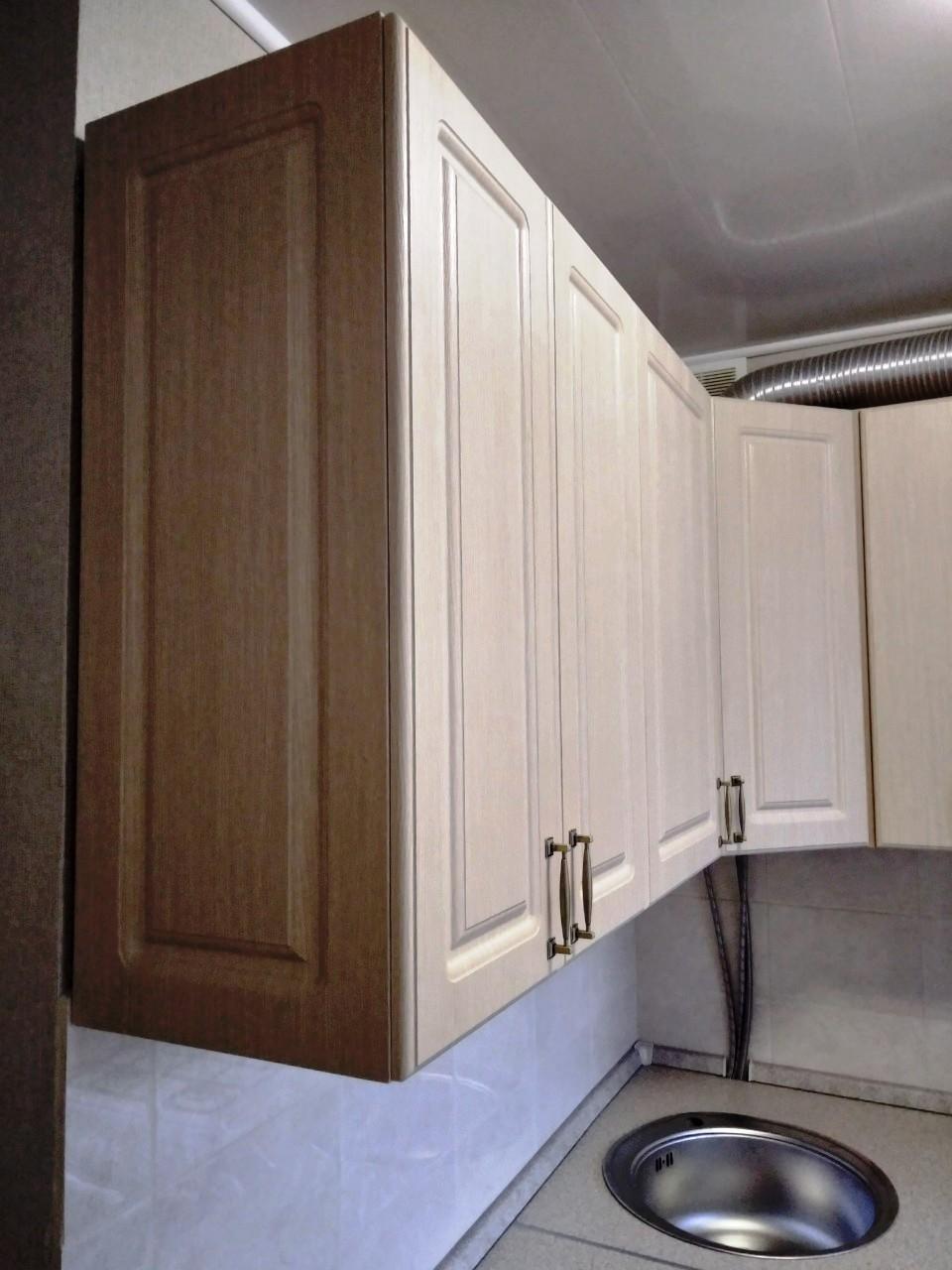 Белый кухонный гарнитур-Кухня МДФ в ПВХ «Модель 534»-фото4