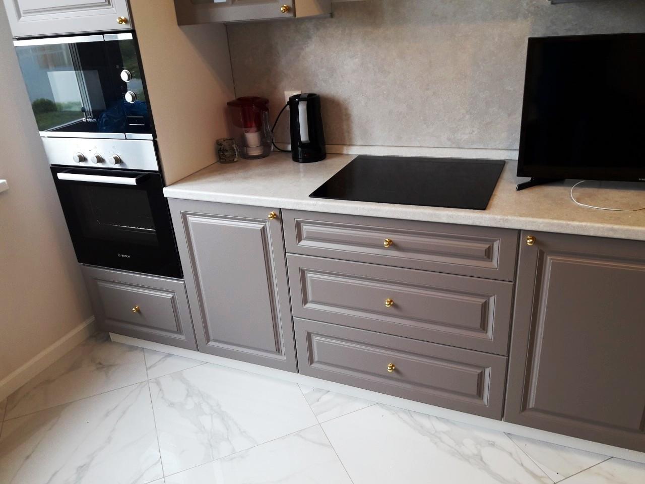 Встроенная кухня-Кухня МДФ в эмали «Модель 541»-фото4