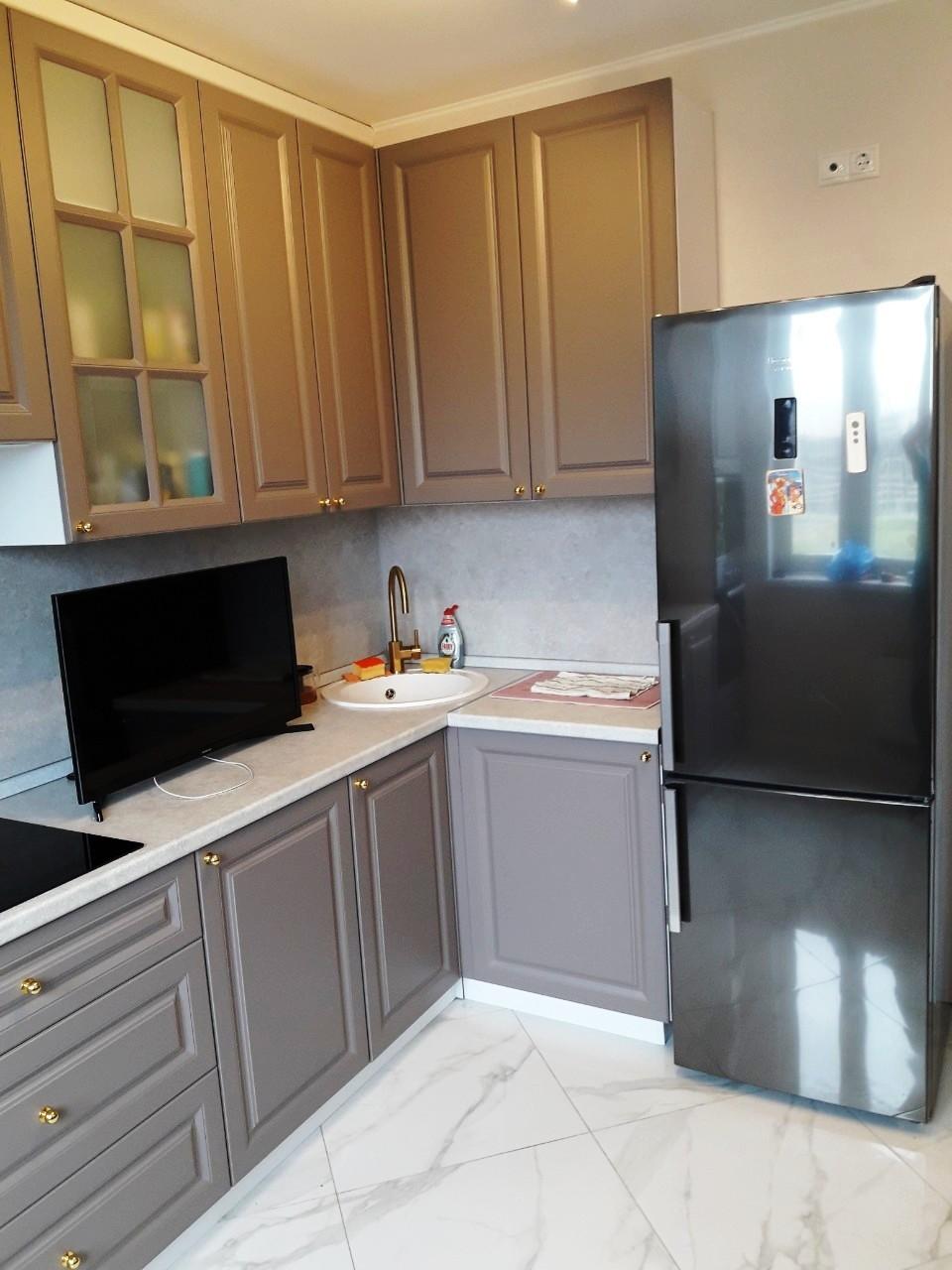 Встроенная кухня-Кухня МДФ в эмали «Модель 541»-фото3