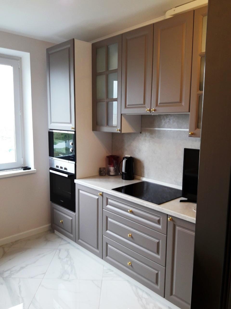 Встроенная кухня-Кухня МДФ в эмали «Модель 541»-фото1