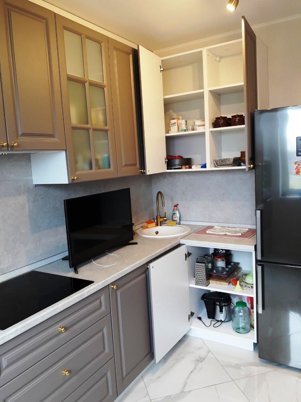 Встроенная кухня-Кухня МДФ в эмали «Модель 541»-фото8