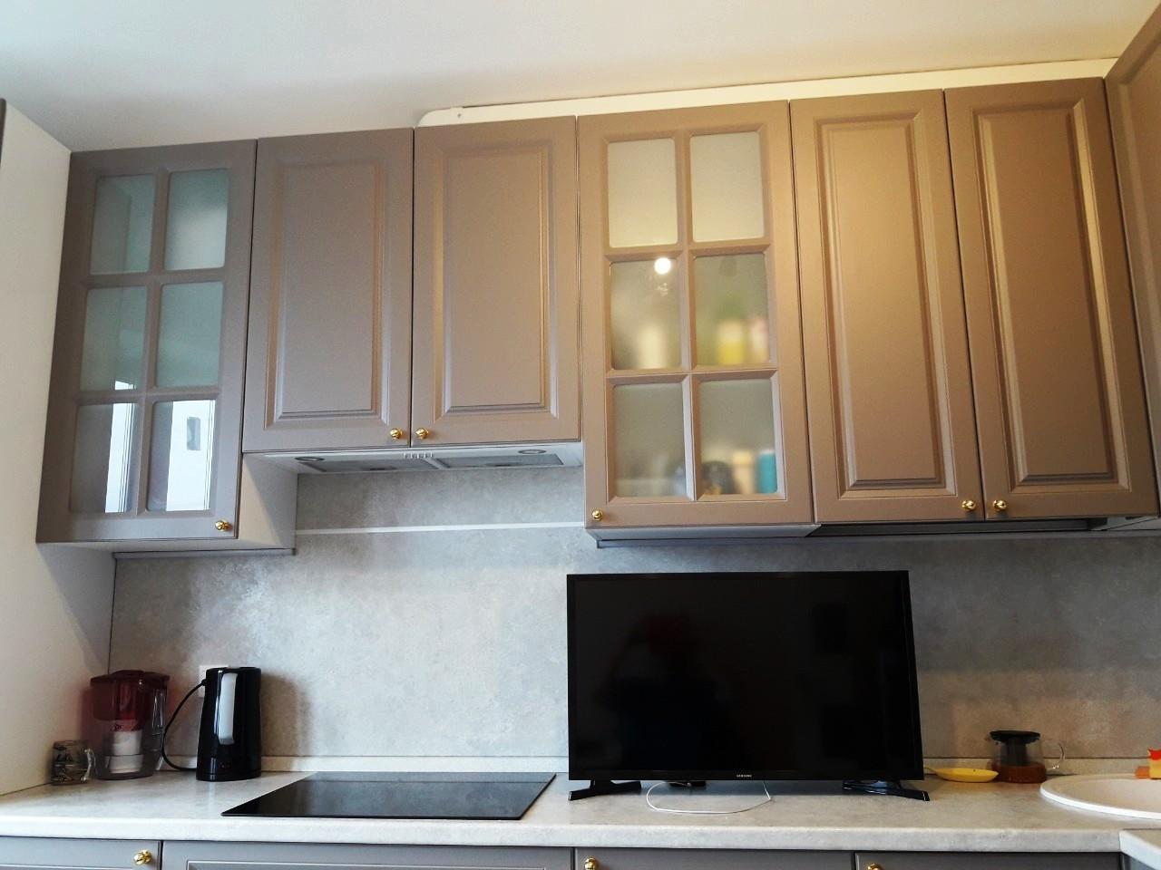 Встроенная кухня-Кухня МДФ в эмали «Модель 541»-фото7