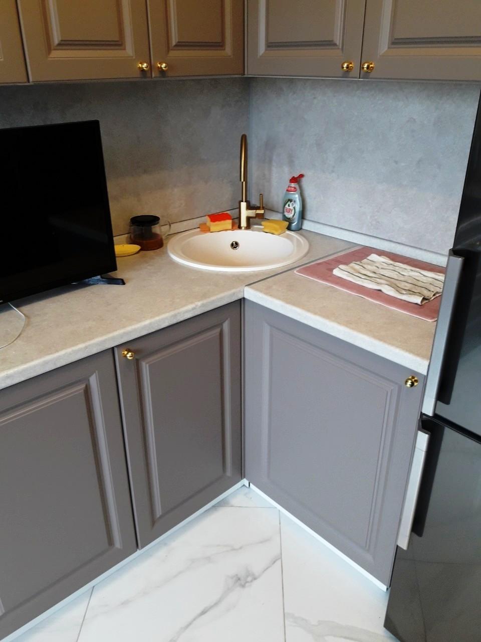 Встроенная кухня-Кухня МДФ в эмали «Модель 541»-фото5