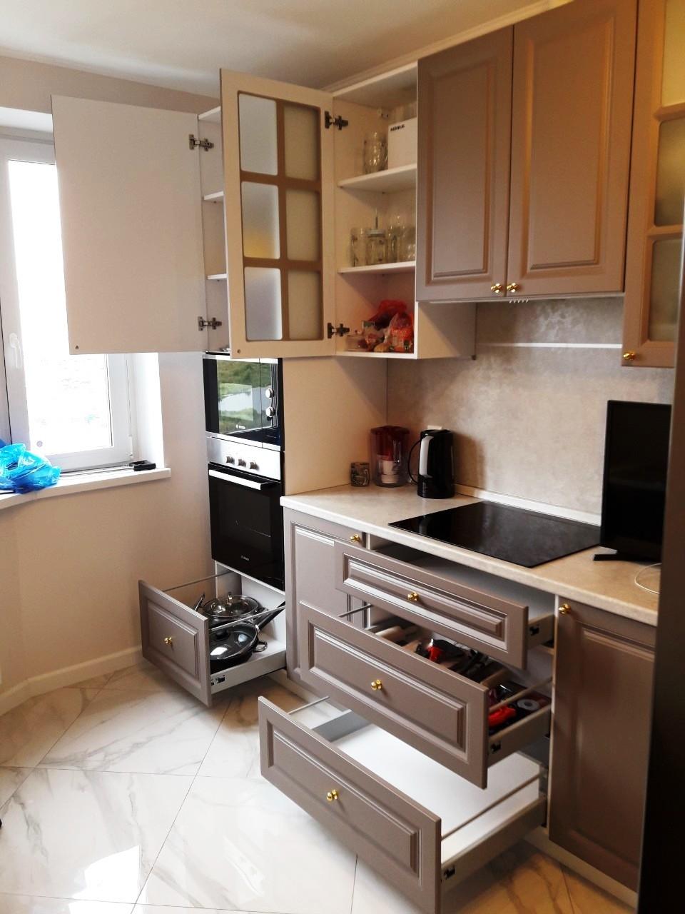 Встроенная кухня-Кухня МДФ в эмали «Модель 541»-фото9