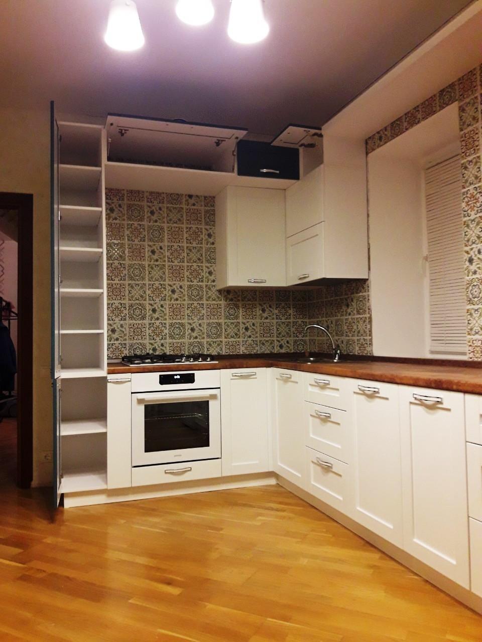 Белый кухонный гарнитур-Кухня МДФ в эмали «Модель 539»-фото4