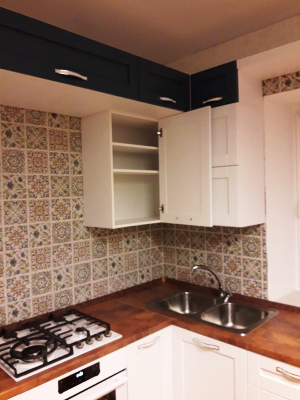 Белый кухонный гарнитур-Кухня МДФ в эмали «Модель 539»-фото7