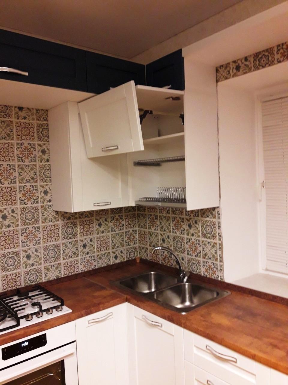 Белый кухонный гарнитур-Кухня МДФ в эмали «Модель 539»-фото8