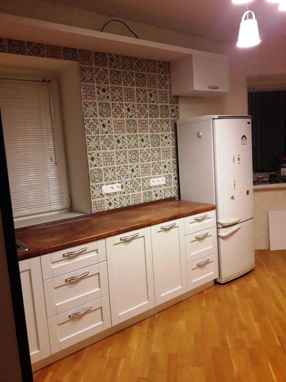 Белый кухонный гарнитур-Кухня МДФ в эмали «Модель 539»-фото3