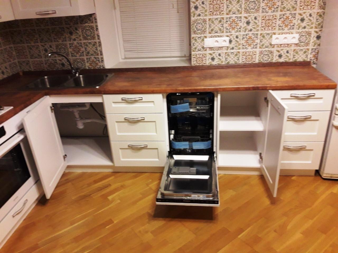 Белый кухонный гарнитур-Кухня МДФ в эмали «Модель 539»-фото6