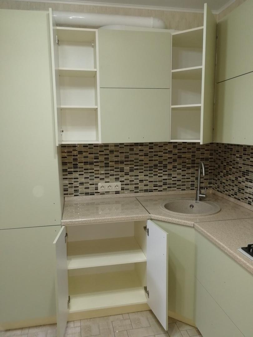 Белый кухонный гарнитур-Кухня МДФ в ПВХ «Модель 526»-фото5