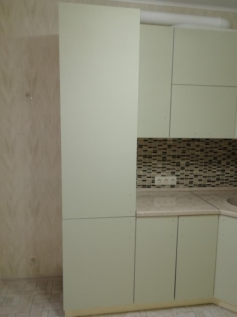 Белый кухонный гарнитур-Кухня МДФ в ПВХ «Модель 526»-фото1