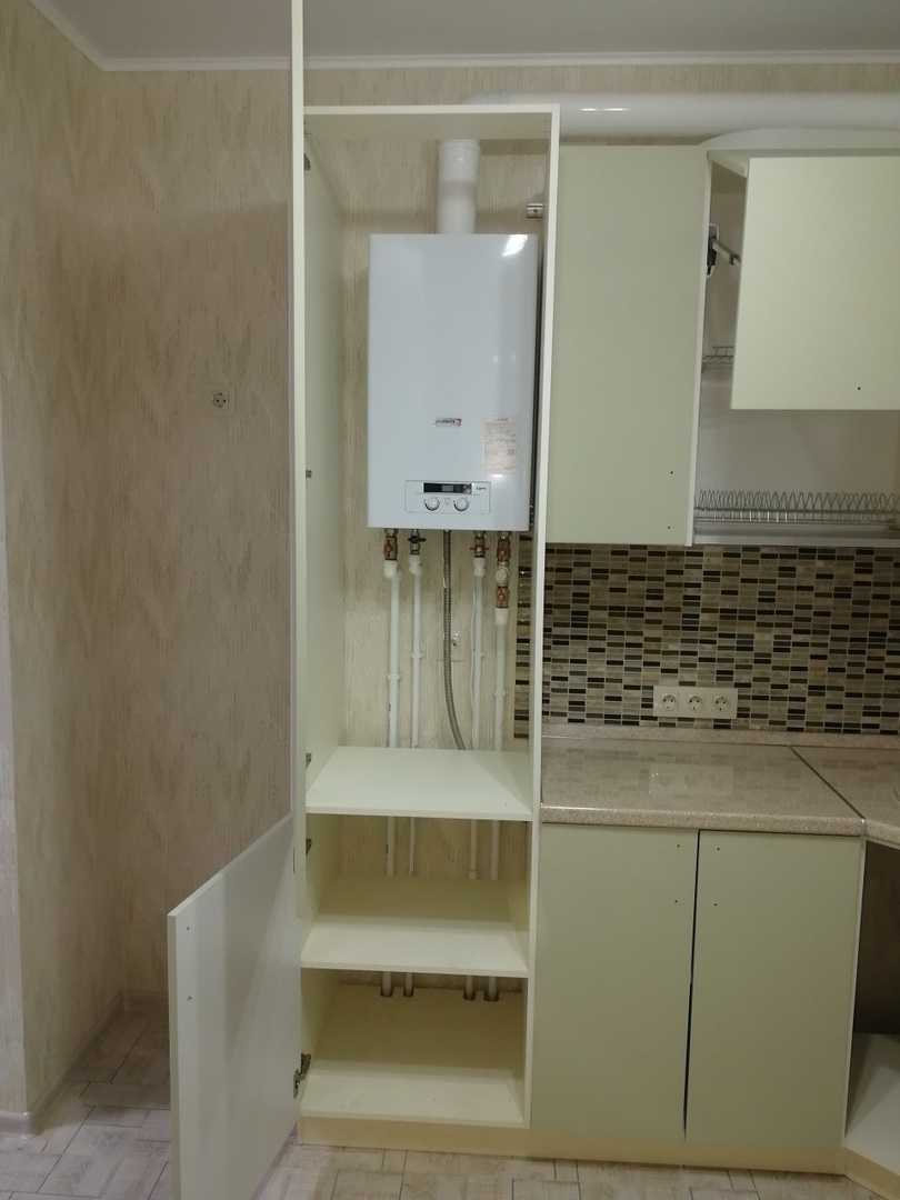 Белый кухонный гарнитур-Кухня МДФ в ПВХ «Модель 526»-фото4