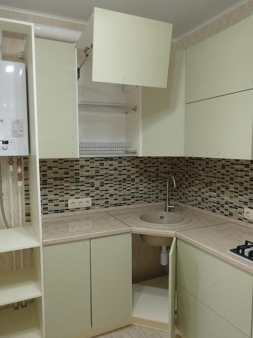 Белый кухонный гарнитур-Кухня МДФ в ПВХ «Модель 526»-фото6