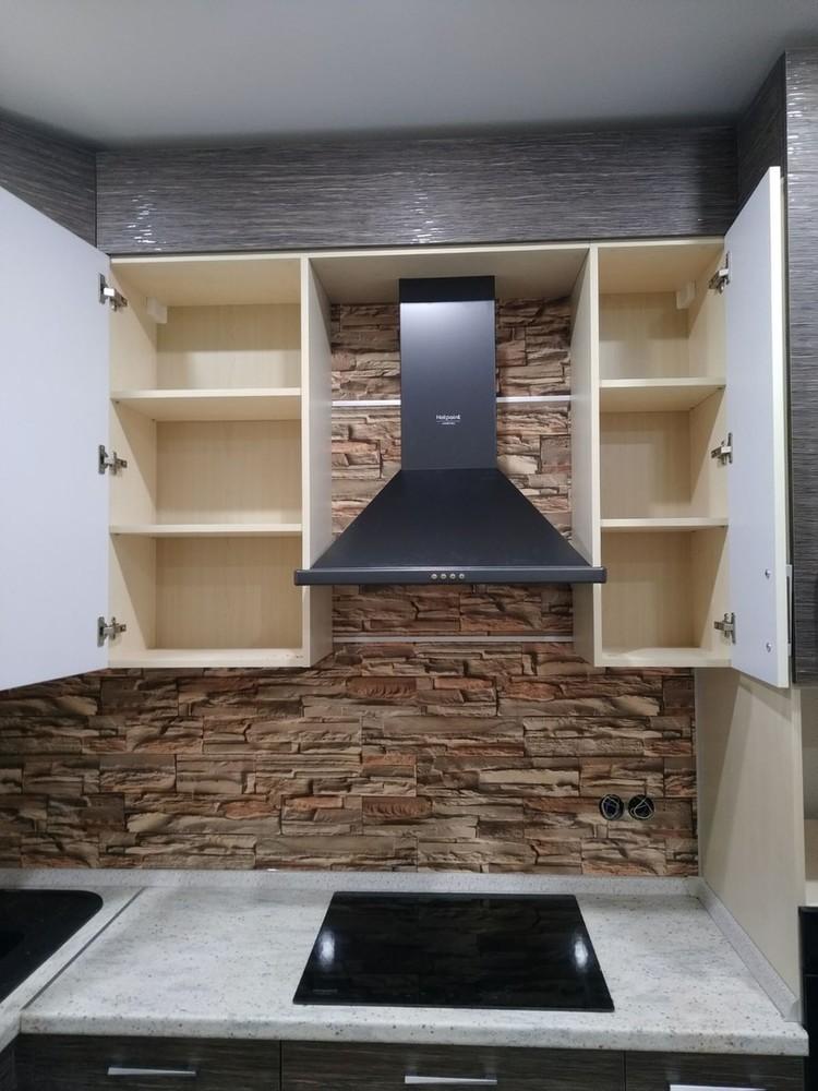 Белый кухонный гарнитур-Кухня МДФ в ПВХ «Модель 523»-фото4