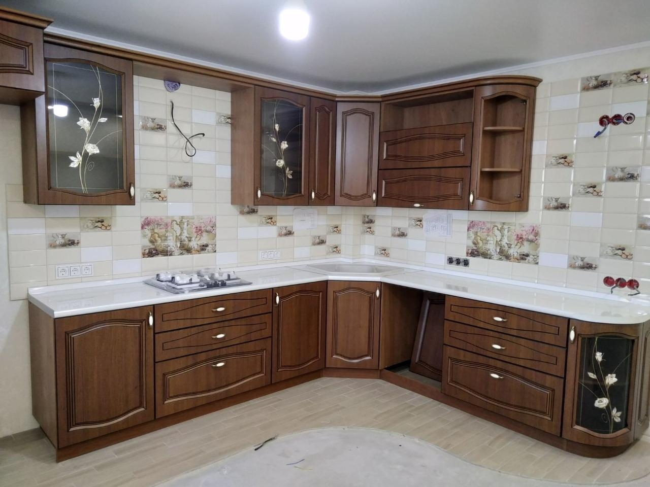 Классические кухни-Кухня МДФ в ПВХ «Модель 527»-фото1