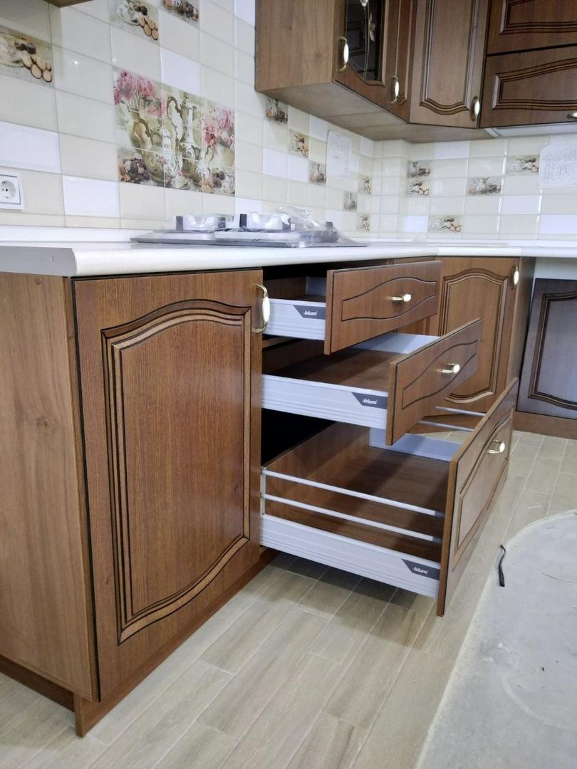 Классические кухни-Кухня МДФ в ПВХ «Модель 527»-фото9