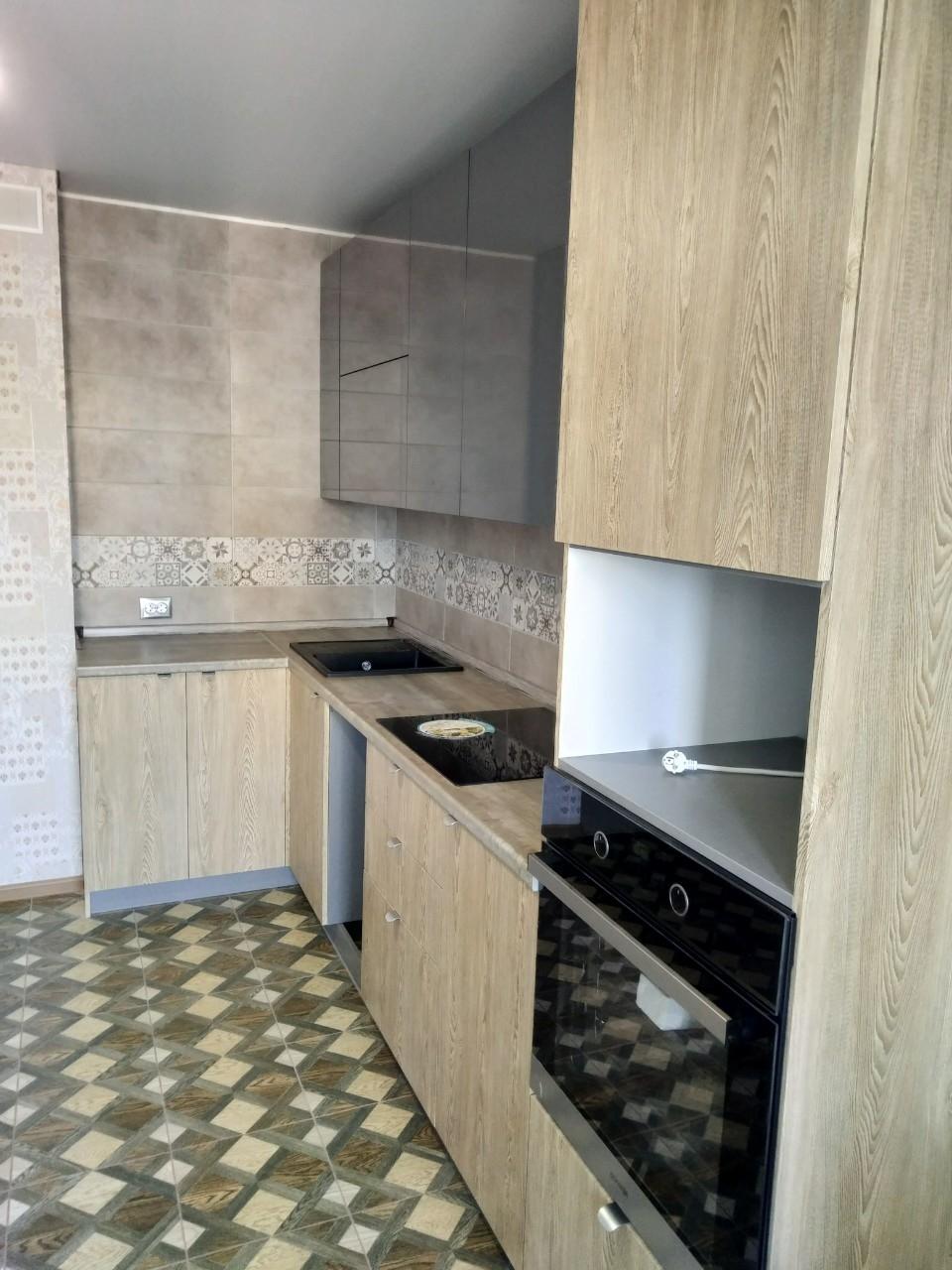 Встроенная кухня-Кухня МДФ в ПВХ «Модель 538»-фото2