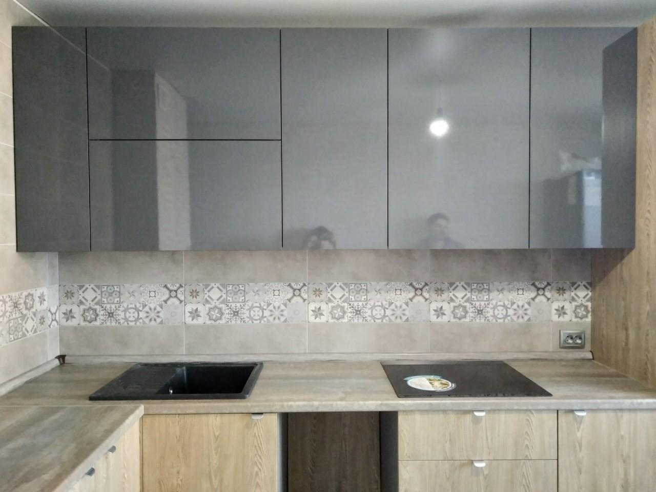 Встроенная кухня-Кухня МДФ в ПВХ «Модель 538»-фото4