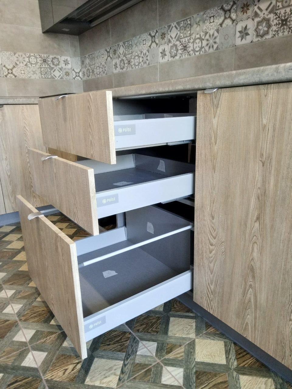 Встроенная кухня-Кухня МДФ в ПВХ «Модель 538»-фото6
