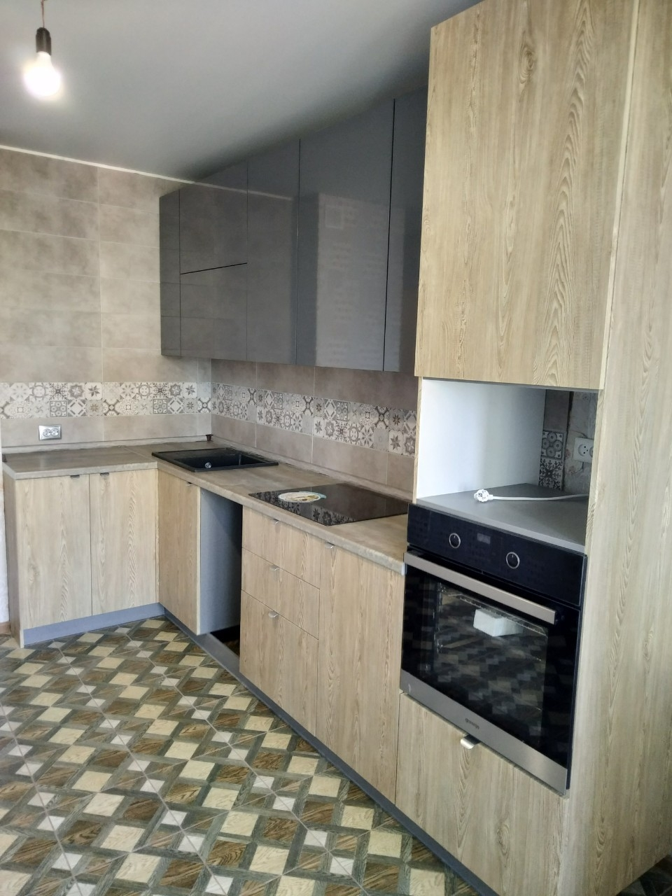 Встроенная кухня-Кухня МДФ в ПВХ «Модель 538»-фото1