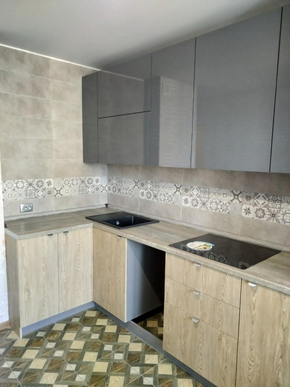 Встроенная кухня-Кухня МДФ в ПВХ «Модель 538»-фото3