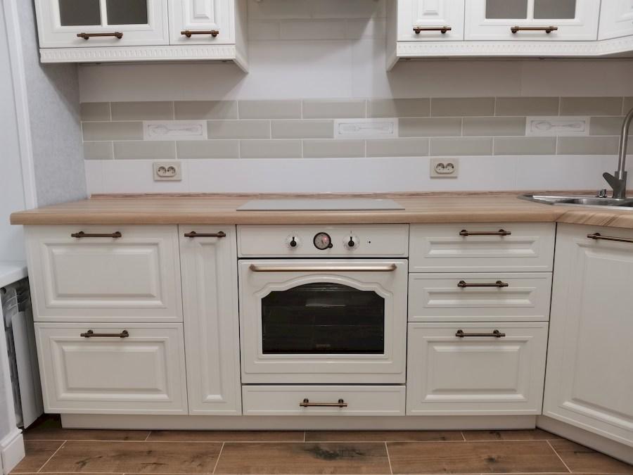 Белый кухонный гарнитур-Кухня МДФ в ПВХ «Модель 573»-фото8