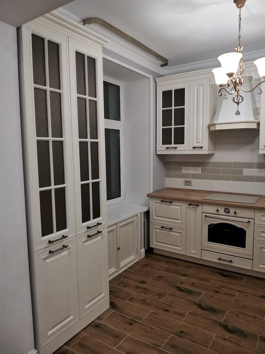 Белый кухонный гарнитур-Кухня МДФ в ПВХ «Модель 573»-фото6