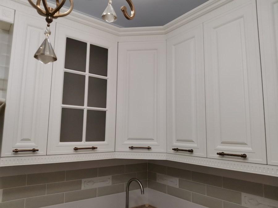 Белый кухонный гарнитур-Кухня МДФ в ПВХ «Модель 573»-фото11