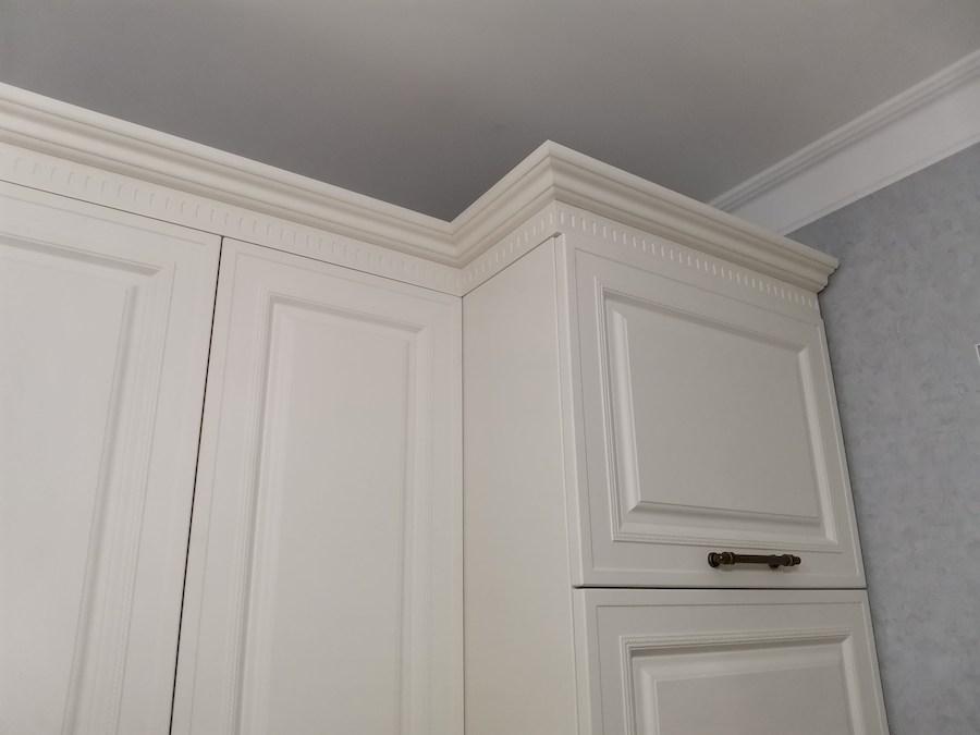 Белый кухонный гарнитур-Кухня МДФ в ПВХ «Модель 573»-фото13