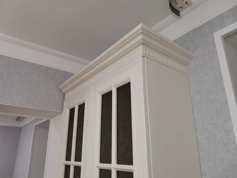Белый кухонный гарнитур-Кухня МДФ в ПВХ «Модель 573»-фото12