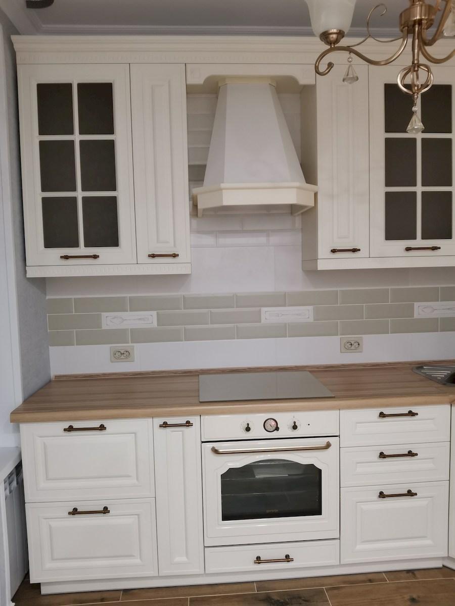 Белый кухонный гарнитур-Кухня МДФ в ПВХ «Модель 573»-фото7