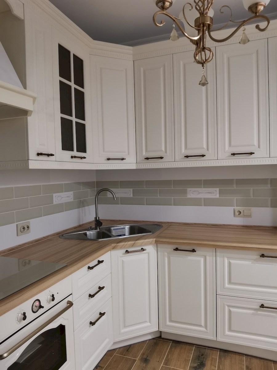 Белый кухонный гарнитур-Кухня МДФ в ПВХ «Модель 573»-фото4